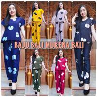 Piyama Rayon Bali / Setelan Panjang / Baju Tidur Wanits