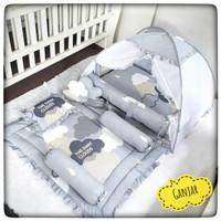 Bedding set bayi-kasur bayi- baby nest bayi-matras tidur bayi kelambu