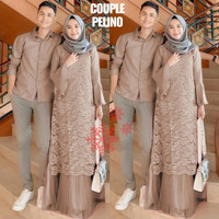 wa baju couple cople kapel samaan pasangan koko gamis busana muslim