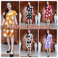Piyama Bali Set Celana Pendek Babydoll Rayon Bali motif Dot