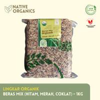 Lingkar Organik - Beras Mix Hitam Merah Coklat Organik 1KG