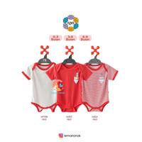 NOVA Baju Kodok Segitiga - Jumper Bayi 0-9 Bulan (RED SERIES)