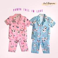 Piyama Anak Perempuan Usia 1-12 Tahun Katun Panda Fall In Love