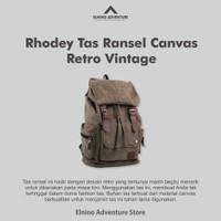 [COD] Rhodey Tas Ransel Canvas Retro Vintage | Tas Pria | tas Wanita