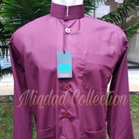 Baju Koko Ammu Collection Original Model Haibah Merah Maroon