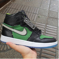 Sepatu Sneakers Nike Air Jordan 1 Zoom Rage Green Black