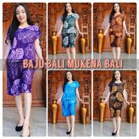 One Set Piyama Celana Pendek Rayon Bali