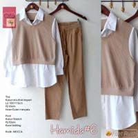 Hamida #6 Set Setelan Celana Wanita Baju Hangout Santai Modis Casual
