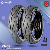 Paket Ban Motor PCX // ZENEOS ZN62 100/80 - 120/70 Ring 14 Tubeless