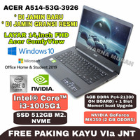 LAPTOP ACER ASPIRE 5 A514-53G i3 1005G1 4GB SSD 512GB MX350 14FHD OHS
