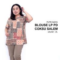 blouse jumbo motif/ atasan wanita big size / baju atasan jumbo / blus - S, coksu salem