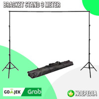 Tiang Stand Backdrop 3 Meter   Bracket Stand Background - Stand Saja
