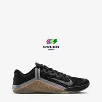 Nike Metcon 6 Men's Training Shoes - BLACK/IRON GREY-GUM DARK BROWN