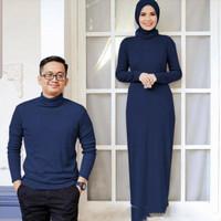Couple Maxi Dress Wanita + Baju Pria ala Korea