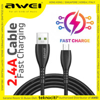AWEI Fast Charging / Data Cable Micro USB 1m - Kabel 5V 2.4A