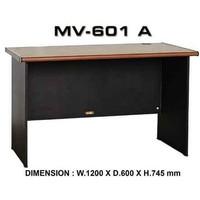 Lucak Meja Kantor / Belajar 1/2 Biro 120Cm Tanpa Laci Mv 601A Vip