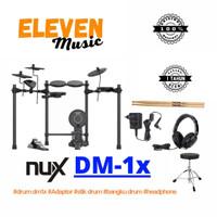 nux dm1x dm 1x dm-1x elektrik drum paket bangku headphone