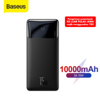 POWER BANK BASEUS 20W FAST CHARGING QUICK CHARGE 3.0 TYPE C PD - Hitam 15W 10000