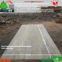 Kayu Papan kayu 120x60 cm Wooden board bahan meja kayu
