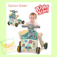 ACTIVITY MUSICAL BABY WALKER 5IN1 RIGHT START - Cactus Green