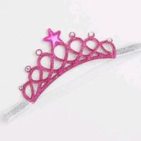 Bandana Mahkota Princess/ bando Mahkota anak - Pink