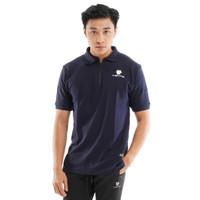 Tiento Polo Shirt True Basic HDC Navy Baju Kaos Kerah Lengan pendek - M
