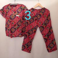 setelan celana panjang / batik kencana ungu / baju tidur / batik