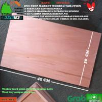 Wooden board scrap 45x30x1 cm papan kayu Wood tray nampan alas kayu