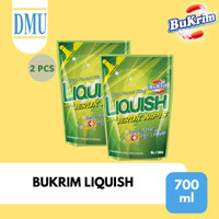 Sabun Cuci Piring Bukrim Liquish Jeruk Nipis 700 ml - 2 Pcs
