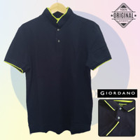 Size XXL-LD120 Giordano Original POLO SHIRT PRIA KAOS KERAH Cowo Navy