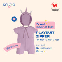 Playsuit Bonnet Set (Romper / Jumper Anak dan Bayi) - Kalale - Lilac