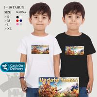 baju kaos anak coc/baju kaos anak clash of clan/kaos anak murah