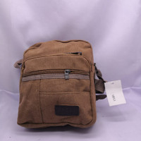 Tas Selempang Sport Slempang Pria / Shoulder Bag Mini Bag Kanvas#1166 - Hijau Gelap