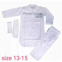 baju koko pakistan putih anak tanggung /remaja ukuran13-15 thn