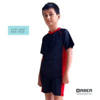 Baju Renang Anak Laki-laki Anak SD Usia 6 - 10 tahun Setelan - Merah, M