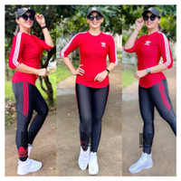 Set baju olahraga senam aerobic sepeda running jogging gym yoga