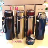 botol minum stainless termos tumbler air panas thermos minum 600ml