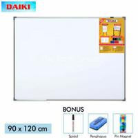 Daiki Whiteboard Magnetic - Papan Tulis Gantung - 90 X 120cm