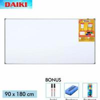 Whiteboard Gantung Magnet - Papan Tulis Daiki - 90x180cm