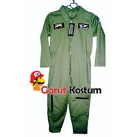 Kostum astronot hijau setelan anak lucu costume karnaval