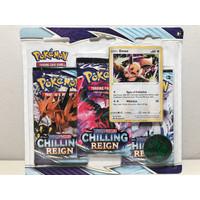 Kartu Pokemon TCG Sword & Shield SS6 Chilling Reign 3 Pack Blister