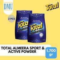 Detergent Bubuk Total Almeera Sport & Active Powder 1700 gr - 2 Pcs