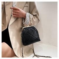Tas Sllempang Sling Bag Impor Fashion Musim Panas Rantai Mutiara - Hitam