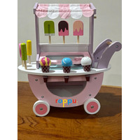 Roppu Wooden Ice Cream with Trolley / Mainan Jualan Es Krim Kayu anak