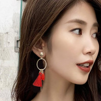 Anting Tassel Merah Korea Style