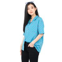 Monellina 50148 Baju Kemeja Atasan XXL Jumbo Lengan Pendek Wanita