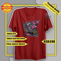 Baju Distro Pria Kaos Oblong T-shirt Cowok Original Pakaian Murah - Grey, M