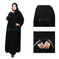 Abaya Gamis Syari Aya Sofya Jetblack Alsyahra Exclusive