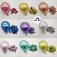 Balon Latex Chrome 5inch / Balon Metalik Chrome 5inch - Biru