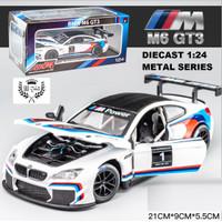 DIECAST Miniatur MOBIL BMW RACING M6 GT3 skala 1:24 Metal Series - Putih